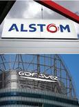 Alstom a signé lundi avec la société sud-africaine Prasa un contrat d'une valeur de plus de quatre milliards d'euros pour la fourniture de matériel roulant, maintenance comprise. GDF Suez a de son côté signé un accord en vue de bâtir des centrales thermiques en Afrique du Sud pour un total de 1,6 milliard d'euros, a-t-on appris à l'occasion de la visite d'Etat de François Hollande dans ce pays. /Photo d'archives/REUTERS/Régis Duvignau/Benoît Tessier