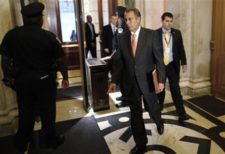 U.S. House Speaker John Boehner (R-OH) arrives at the U.S. Capitol in Washington, October 12, 2013. REUTERS/Jonathan Ernst