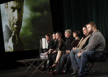 "Cast members and producers of ""The Walking Dead"" take part in a panel discussion at AMC's TCA Winter Press Tour in Pasadena, California, January 14 2012. REUTERS/Jonathan Alcorn"