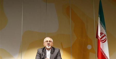 Iranian Foreign Minister Mohammad Javad Zarif addresses a news conference following nuclear negotiations with European Union's foreign policy chief Catherine Ashton (not pictured) who is leading talks with Iran on behalf of the six world powers, at the United Nations in Geneva October 16, 2013. REUTERS/Ruben Sprich