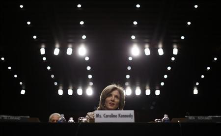 Caroline Kennedy, daughter of former U.S. President John F. Kennedy, testifies at her U.S. Senate Foreign Relations Committee hearing on her nomination as the U.S. Ambassador to Japan, on Capitol Hill in Washington, September 19, 2013. REUTERS/Jason Reed