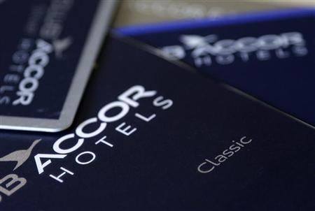 An illustration picture shows loyalty guest cards of Europe's largest hotel group Accor displayed on a desk in Paris August 28, 2013. REUTERS/Jacky Naegelen