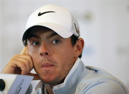 Rory McIlroy attends at a news conference ahead of Koron Korea Open Golf Championship in Seoul October 15, 2013. REUTERS/Kim Hong-Ji