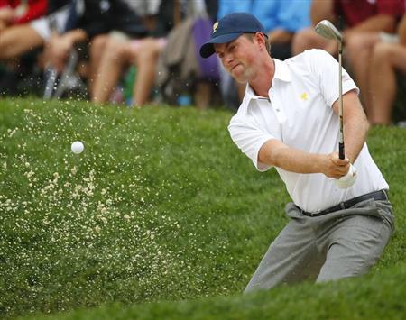 Webb Simpson is seen in this photo taken at Muirfield Village Golf Club in Dublin, Ohio October 6, 2013. REUTERS/Jeff Haynes