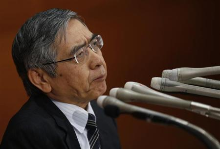 Bank of Japan (BOJ) Governor Haruhiko Kuroda attends a news conference at BOJ headquarters in Tokyo October 4, 2013. REUTERS/Issei Kato