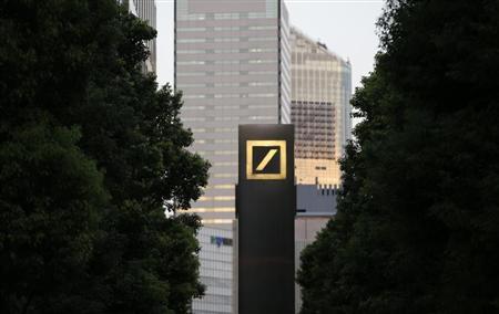 A logo of Deutsche Bank AG is seen in Tokyo September 9, 2013. DEUTSCHE-JAPAN/PROBE REUTERS/Toru Hanai