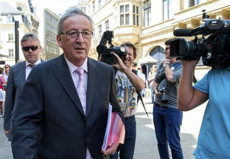 Luxembourg's Prime Minister Jean-Claude Juncker leaves a meeting with Grand Duke Henri at the Grand Ducal Palace in Luxembourg July 11, 2013. REUTERS/Charles Caratini