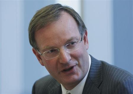 David Goulden of EMC Corp speaks during the Reuters Global Technology, Media and Telecom Summit at the Thomson Reuters headquarters in New York City in this May 19, 2008 file photo. REUTERS/Joshua Lott/Files