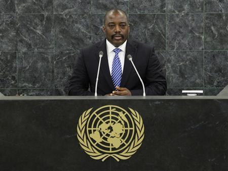 Joseph Kabila, President of the Democratic Republic of the Congo, addresses the 68th United Nations General Assembly at UN headquarters in New York, September 25, 2013. REUTERS/Stan Honda/Pool