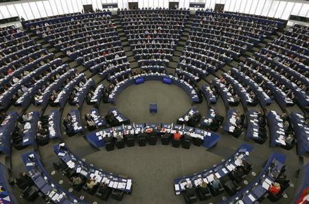 Members of the European Parliament take part in a voting session at the European Parliament in Strasbourg, October 23, 2013. REUTERS/Vincent Kessler
