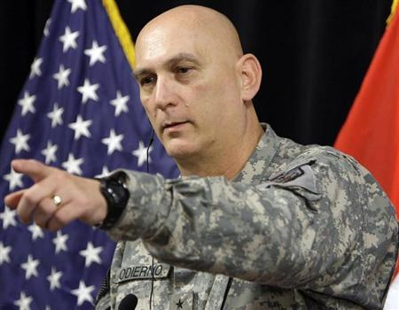 General Ray Odierno holds a news conference at Camp Victory in Baghdad January 1, 2010. REUTERS/Saad Shalash