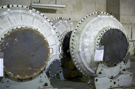 Disused equipment for enriching uranium is shown at the French nuclear Pierrelatte site in southeastern France in this undated handout file photo released on July 3, 2009 by the French Atomic Energy Authority (CEA). REUTERS/CEA/Celine Jandaureck/Handout