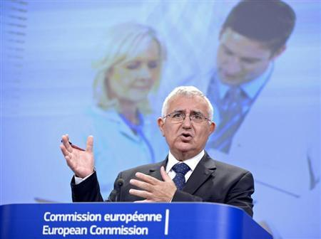 John Dalli, European Commissioner for Health and Consumer Policy, speaks at a news conference at the EC headquarters in Brussels July 17, 2012. REUTERS/Eric Vidal