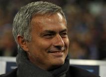 Chelsea's head coach Jose Mourinho reacts before their Champions League soccer match against Schalke 04 in Gelsenkirchen October 22, 2013. REUTERS/Ina Fassbender