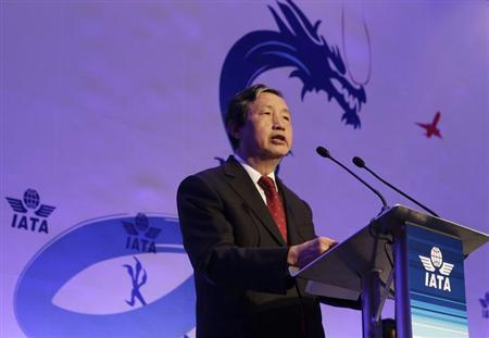 China's State Councillor Ma Kai delivers a speech during the opening of the 68th International Air Transport Association (IATA) annual general meeting in Beijing June 11, 2012. REUTERS/Jason Lee