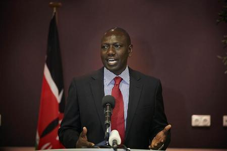 Deputy Kenyan President William Ruto addresses the media at a news conference at the Movenpick Hotel in the Hague October 15, 2013. REUTERS/Phil Nijhuis