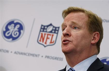 Roger Goodell, Commissioner of the National Football League (NFL) speaks at a news conference, in New York March 11, 2013. REUTERS/Mike Segar