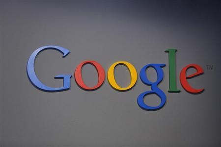 A Google logo is seen at the garage where the company was founded on Google's 15th anniversary in Menlo Park, California September 26, 2013. REUTERS/Stephen Lam