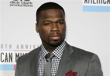 Rap artist Curtis Jackson, known as 50 Cent, arrives at the 40th American Music Awards in Los Angeles, California in this November 18, 2012 file photo. REUTERS/Jonathan Alcorn/Files