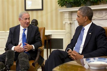 U.S. President Barack Obama listens to Israeli Prime Minister Benjamin Netanyahu in the Oval Office of the White House in Washington, September 30, 2013. REUTERS/Jason Reed