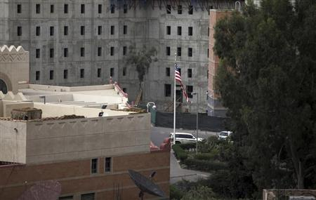 A general view of the U.S. embassy compound in Sanaa August 7, 2013. REUTERS/Mohamed al-Sayaghi