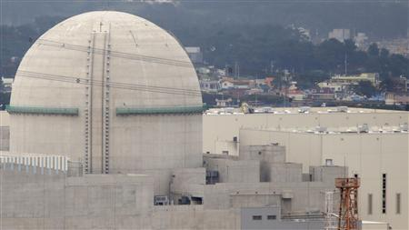 A general view of the new Shin Kori No. 3 reactor of state-run utility Korea Electric Power Corp (KEPCO) in Ulsan, about 410 km (255 miles) southeast of Seoul in this September 3, 2013 file photo. REUTERS/Lee Jae-Won/Files