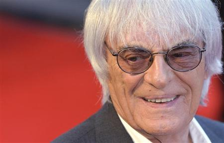 Bernie Ecclestone arrives at the world premiere of Rush at a cinema in Leicester Square, central London, September 2, 2013. REUTERS/Toby Melville