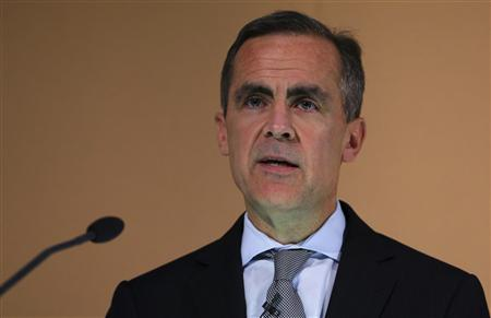 Bank of England Governor Mark Carney delivers his speech during the Financial Times 125th anniversary event in London October 24, 2013. REUTERS/Gareth Fuller/Pool