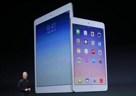 Apple Inc CEO Tim Cook speaks about the new iPad Air and the iPad mini with Retina display during an Apple event in San Francisco, California October 22, 2013. REUTERS/Robert Galbraith