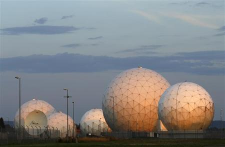 A general view of the large former monitoring base of the U.S. intelligence organization National Security Agency (NSA) is pictured during sunrise in Bad Aibling south of Munich, August 6, 2013. REUTERS/Michaela Rehle