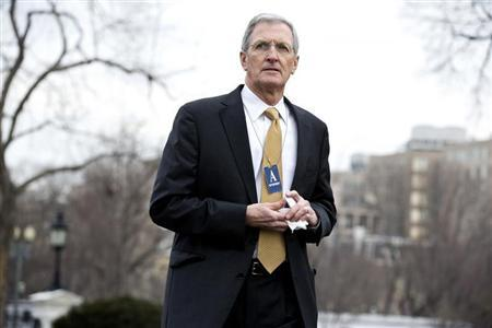 Greg Page, Chairman and CEO, of Cargill arrives to meet with U.S. President Barack Obama and other CEOs at the White House in Washington February 5, 2013. REUTERS/Joshua Roberts