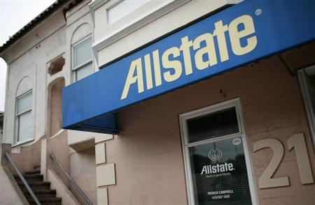 An Allstate insurance office is shown in San Francisco, California February 10, 2010. REUTERS/Robert Galbraith