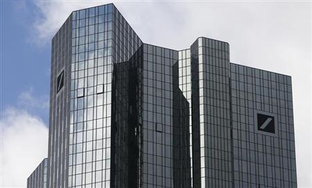 The headquarters of Deutsche Bank are pictured in Frankfurt Octoeber 29, 2013. REUTERS/Ralph Orlowski