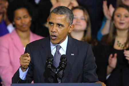 U.S. President Barack Obama speaks about the Affordable Care Act, also known as Obamacare, at Faneuil Hall in Boston, Massachusetts October 30, 2013. REUTERS/Brian Snyder