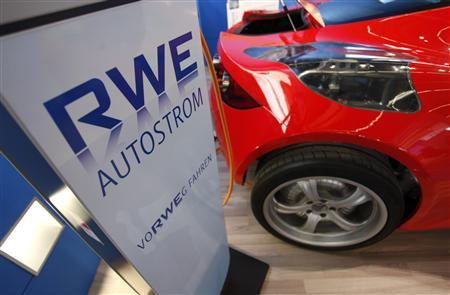 A file picture of a recharging system of German power supplier RWE during the International Motor Show (IAA) in Frankfurt, September 14, 2011. REUTERS/Ralph Orlowski/Files