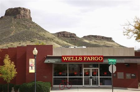 The Wells Fargo bank branch is seen in Golden, Colorado October 11, 2013. REUTERS/Rick Wilking