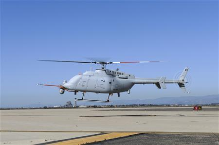 The U.S. Navy's newest variant of the Fire Scout unmanned helicopter completes its first day of flying in this handout photo taken at Naval Base Ventura County at Point Mugu, California October 31, 2013. REUTERS/U.S. Navy/Handout via Reuters