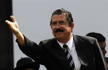 Former Honduras president Manuel Zelaya leaves the funeral ceremony for Venezuela's late President Hugo Chavez, at the Military Academy in Caracas, March 8, 2013. REUTERS/Jorge Dan Lopez