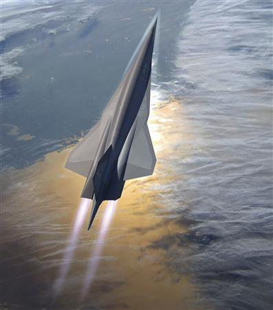 Lockheed Martin's planned SR-72 twin-engine jet aircraft is seen in this artist's rendering provided to Reuters November 1, 2013 by Lockheed Martin. REUTERS/Lockheed Martin/Handout via Reuters