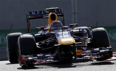 Red Bull Formula One driver Mark Webber of Australia takes a corner during the third practice session of the Abu Dhabi F1 Grand Prix at the Yas Marina circuit on Yas Island, November 2, 2013. REUTERS/Caren Firouz