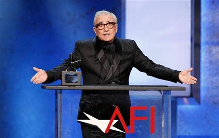 Director and presenter Martin Scorsese speaks at the American Film Institute's 41st Life Achievement Award Gala at the Dolby theatre in Hollywood, California June 6, 2013. REUTERS/Mario Anzuoni
