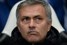 Chelsea manager Jose Mourinho reacts during their English Premier League soccer match against Newcastle United at St James' Park in Newcastle, northern England November 2, 2013. REUTERS/Nigel Roddis