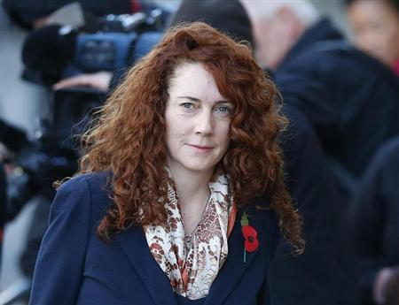 Former News International chief executive Rebekah Brooks arrives at the Old Bailey courthouse in London November 4, 2013. REUTERS/Andrew Winning