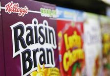 Boxes of Kellogg's cereal are stacked in a supermarket in New York in this April 29, 2008 file photo. REUTERS/Lucas Jackson/Files