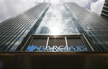 Sunshine reflects off the Barclays Bank headquarters in the Docklands, east London on June 28, 2012. REUTERS/Olivia Harris
