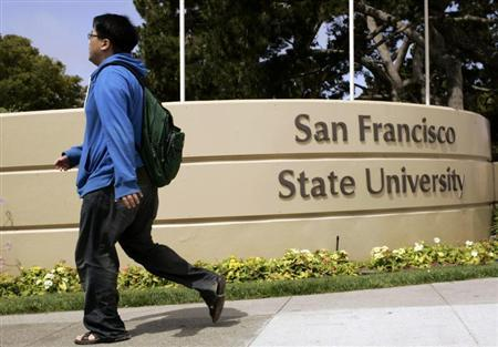 A student walks on the campus of San Francisco State University in San Francisco, California June 30, 2009. REUTERS/Robert Galbraith