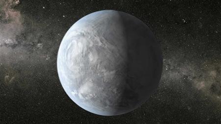 An artist's depiction of Kepler-62e is shown in this NASA handout provided November 4, 2013. REUTERS/NASA Ames/JPL-Caltech/Handout via Reuters