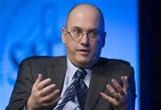 Hedge fund manager Steven A. Cohen, founder and chairman of SAC Capital Advisors, responds to a question during an interview in Las Vegas in this file photo taken May 11, 2011. REUTERS/Steve Marcus/Files