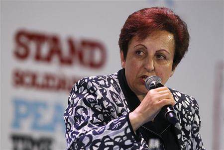 2003 Nobel Peace prize laurate Shirin Ebadi of Iran speaks during a session of the 13th World Summit of Nobel Peace Prize Laureates at the Palace of Culture in Warsaw October 21, 2013. REUTERS/Kacper Pempel