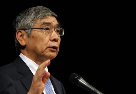 Bank of Japan Governor Haruhiko Kuroda gives his speech during a seminar in Tokyo September 20, 2013. REUTERS/Yuya Shino
